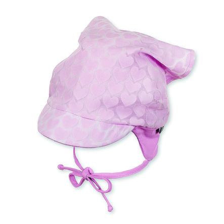 Sterntaler Girl chusta na głowę serce różowe