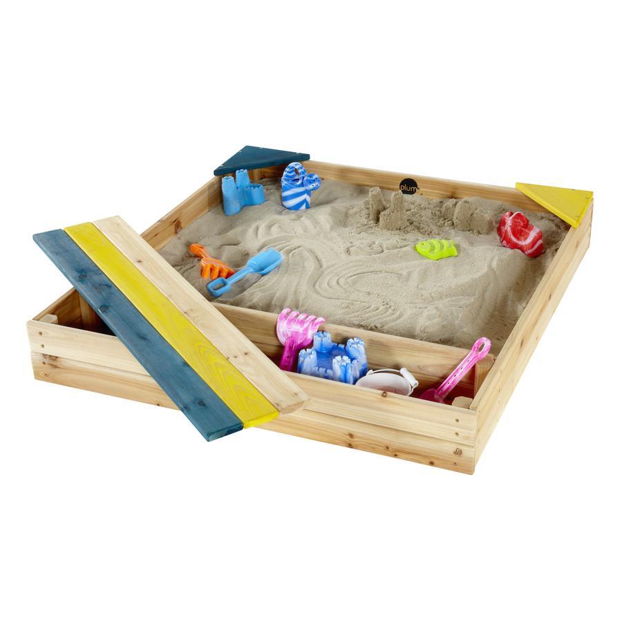 plum® Sandkasten mit Spielzeug und Aufbewahrungsbox