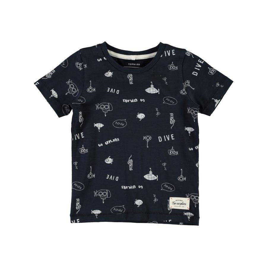 name it Boys T-Shirt Nmmfarol ciemny szafir Nmmfarol