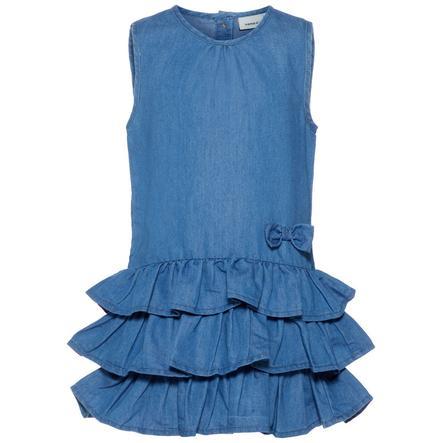 name it Girl s dress Nmfbabra jean bleu moyen