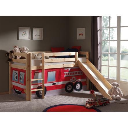 VIPACK postel se skluzavkou Pino se závěsem hasiči