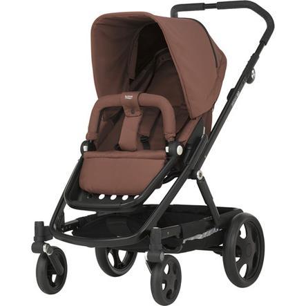 Britax Kinderwagenset Go Wood Brown Gestellfarbe Black mit Aufsatz Go Wood Brown