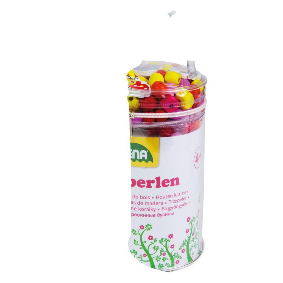LENA® Houten kralen Tas, roze