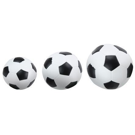 LENA® měkké fotbalové míčky sada 3 ks, černobílé