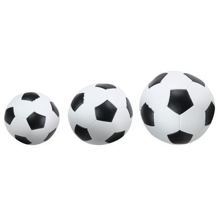LENA® Soft-Fodbolde 3er-Sæt Sort/Hvid