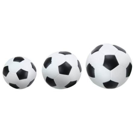 LENA® Soft-Fußbälle 3er-Set schwarz/weiß