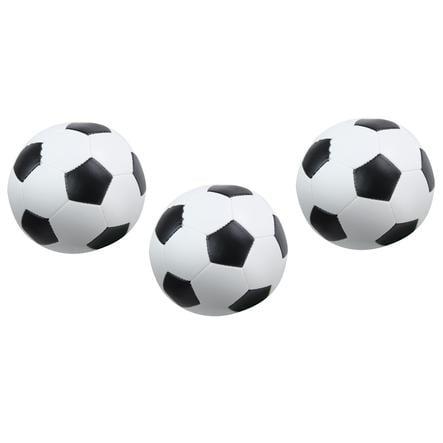 LENA® Soft-fotball 3x sett svart/hvit 10 cm