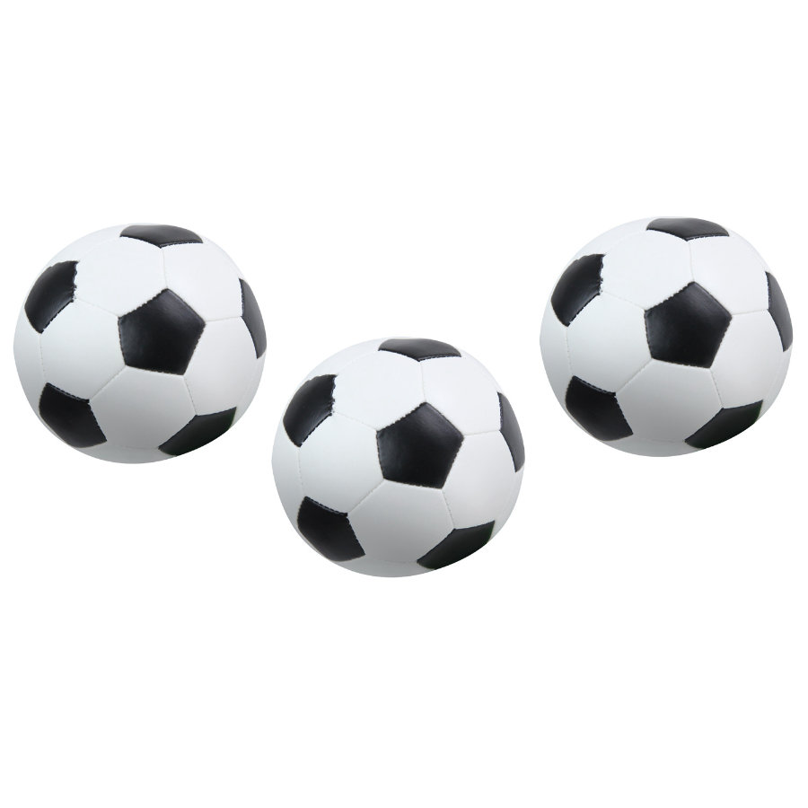 LENA® Lot ballons de football, 3 pièces, 10 cm