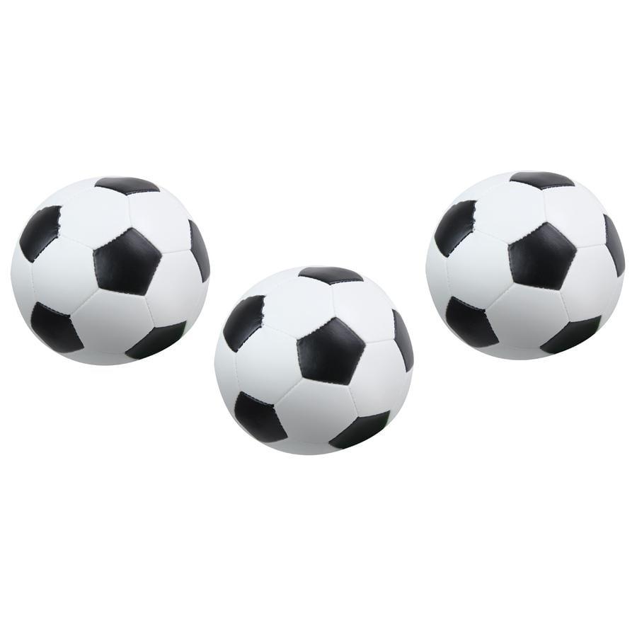 LENA® měkké fotbalové míčky sada 3 ks, černobílé 10 cm