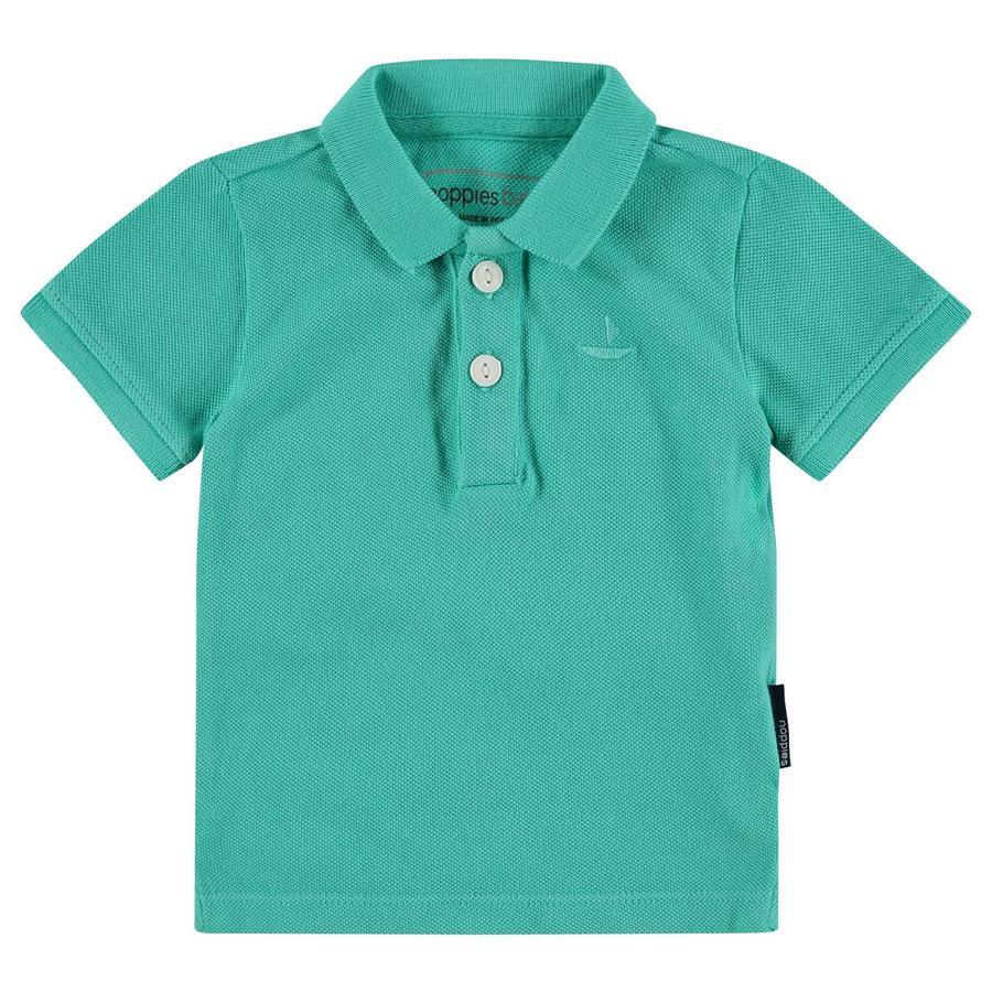 noppies Poloshirt Miami blek turkos