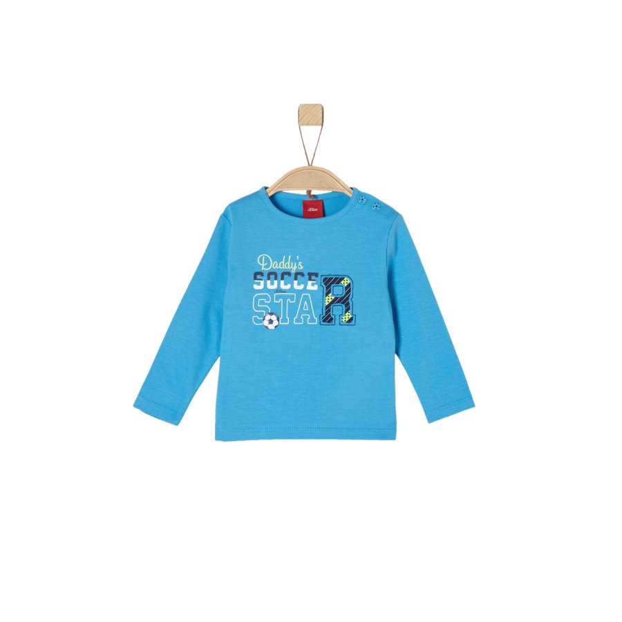 s.Oliver Boys Shirt met lange mouwen licht blauw