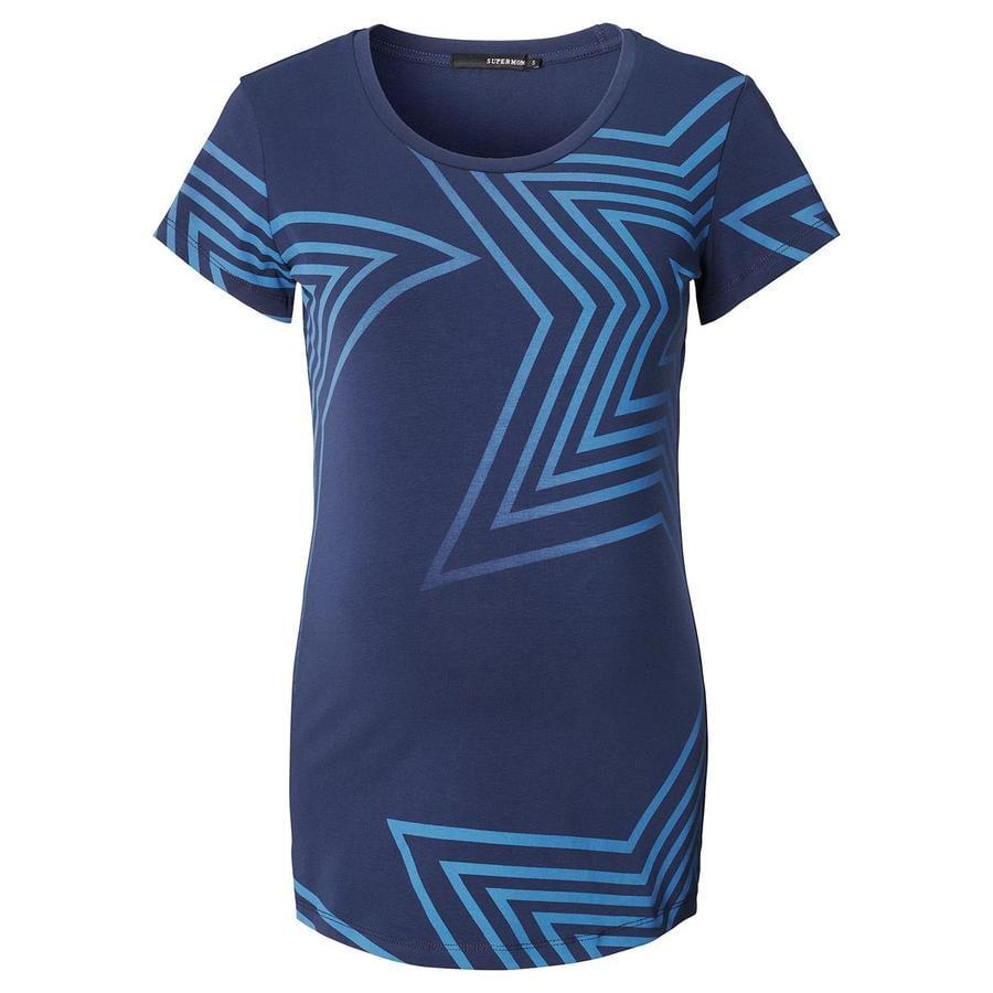 SUPERMOM omstandigheid shirt Blauwe Sterren