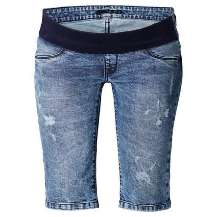 SUPERMOM Pantalones vaqueros de maternidad Capri Destruidos
