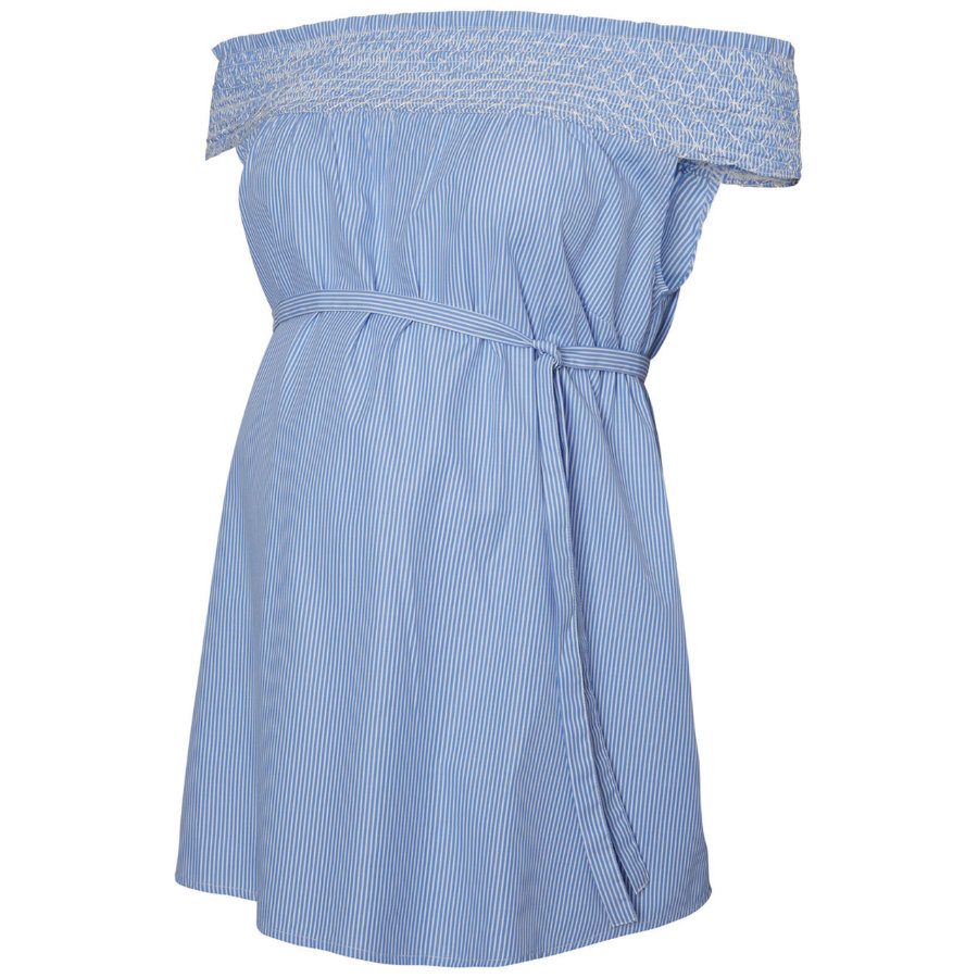 mama licious Koszula pielęgniarska MLBLEECK śnieżnobiały niebieski