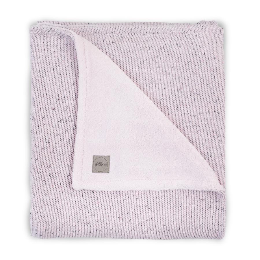 jollein Filt stickad, vintage pink 100x150cm