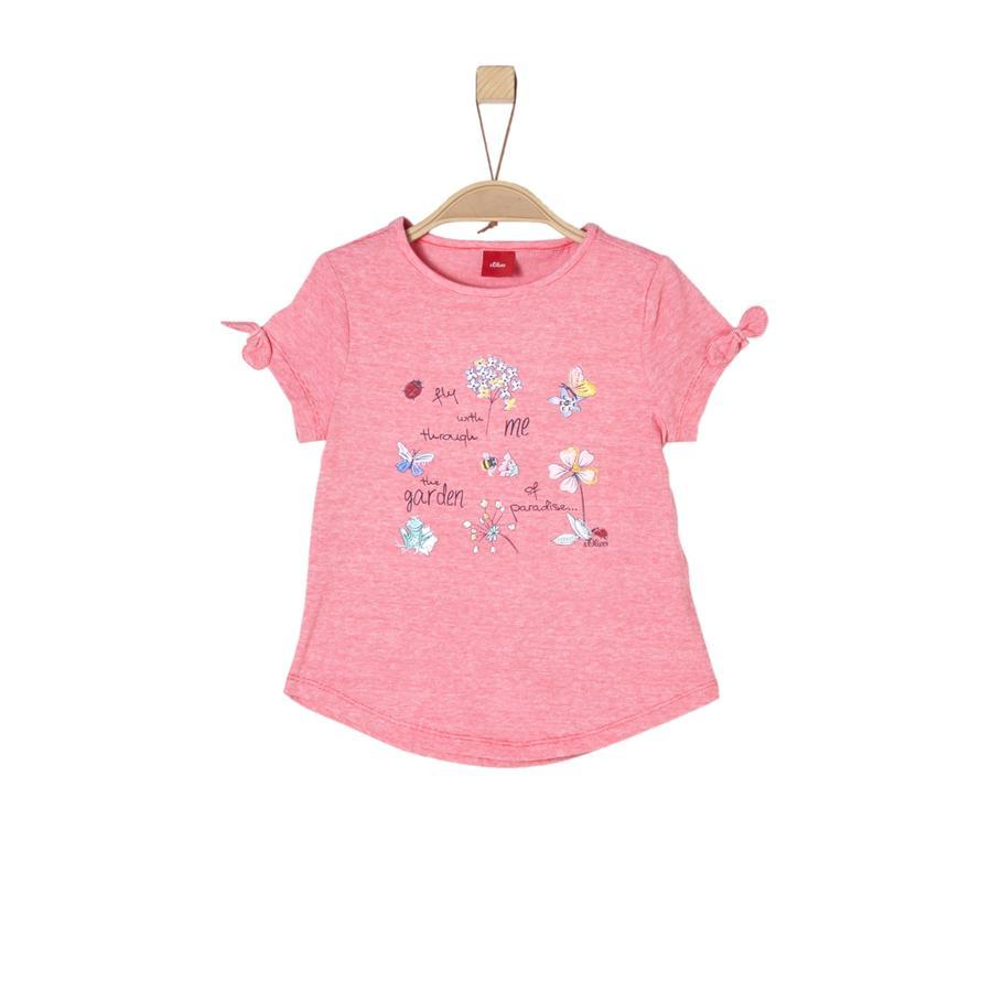 s.Oliver Girl s T-Shirt rosso melange