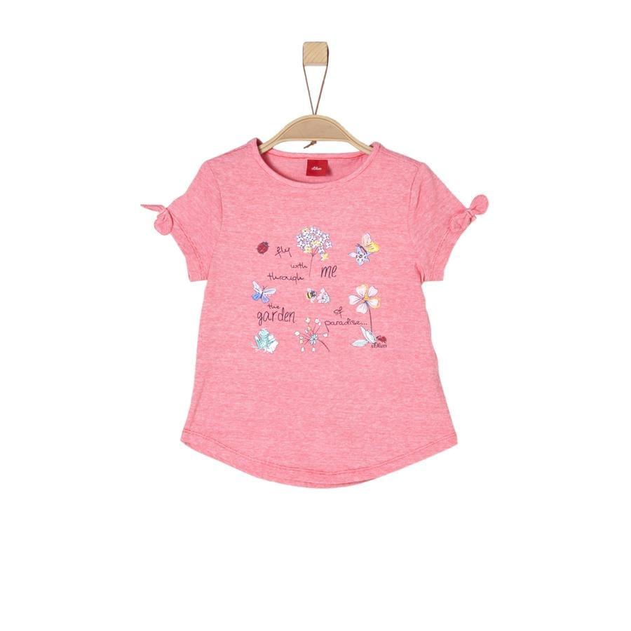 s.Oliver Girl T-Shirt czerwony melanż