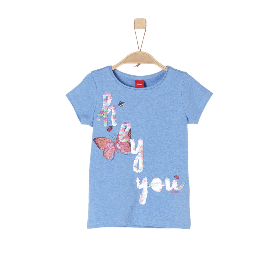 s.Oliver Girls T-Shirt light blue melange