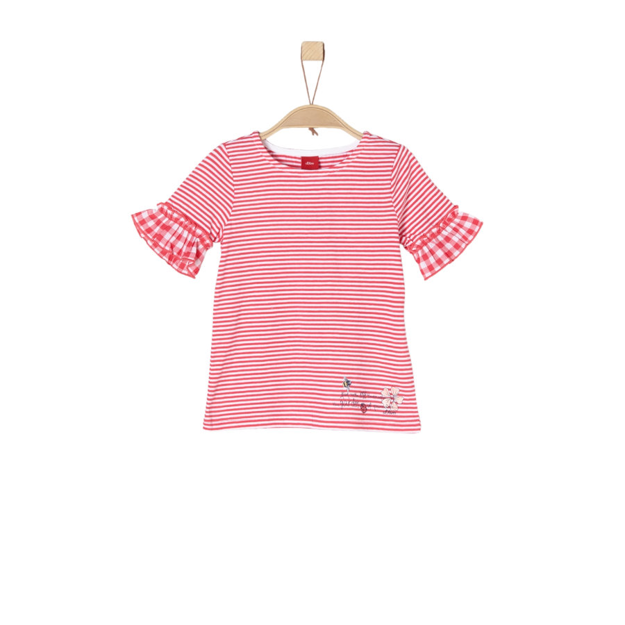 s.Oliver Girls T-Shirt red stripes