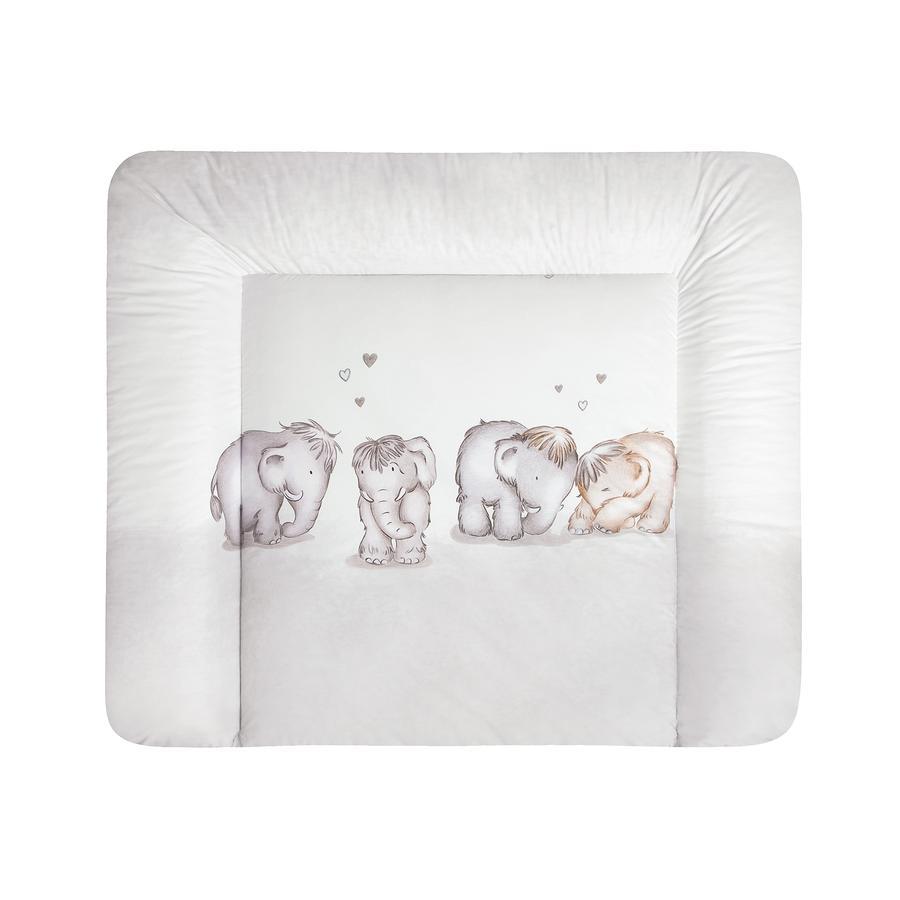 JULIUS ZÖLLNER Materassino per fasciatoio Softy Mammuts in Love 75 x 60 cm