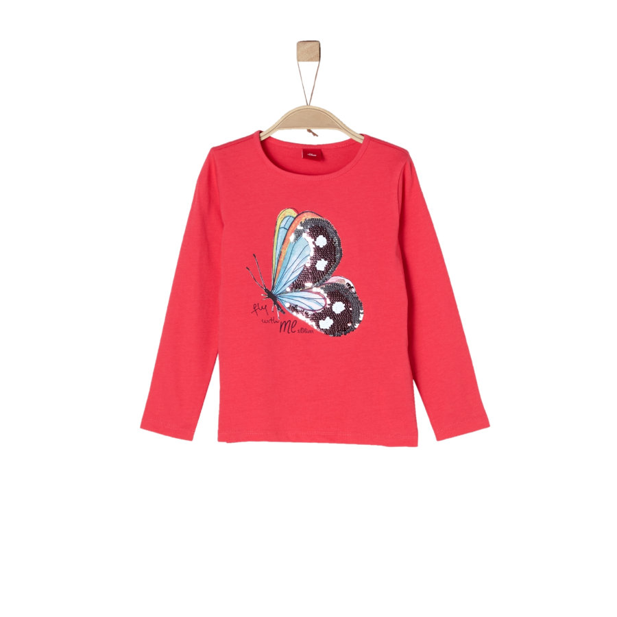 s.Oliver Girls Langarmshirt red