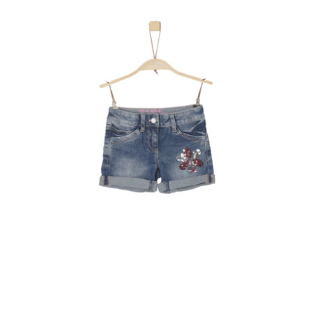 s.Oliver Girls Jeansshorts blue denim stretch