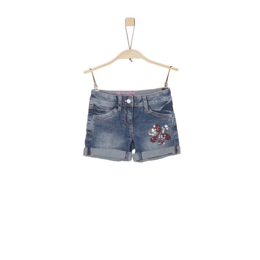 s.Oliver Girl pantaloncini jeans s pantaloncini blu denim stretch