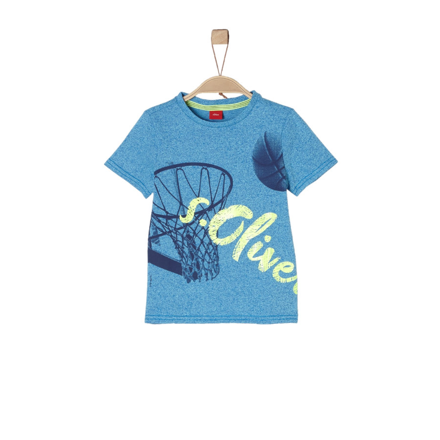 s.Oliver Boys T-Shirt niebieski melanż
