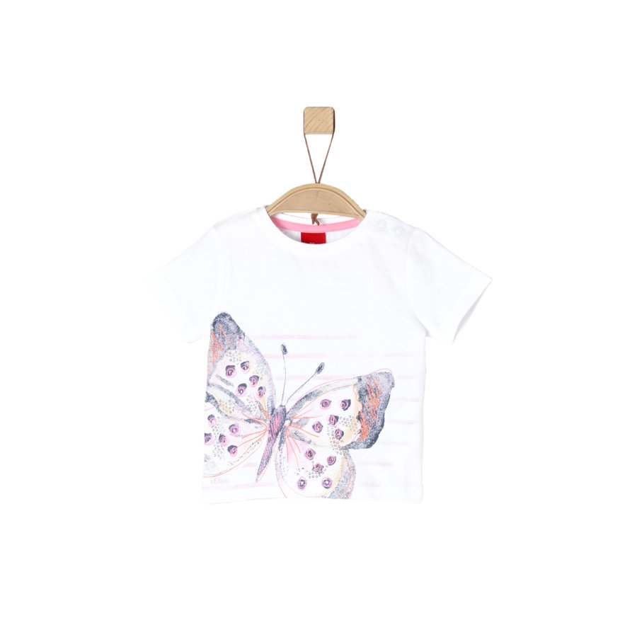 s. Oliver Tyttöjen t-paita valkoinen