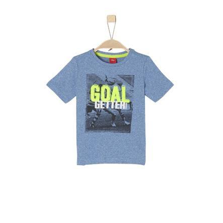 s.Oliver Boys T-Shirt mélange bleu