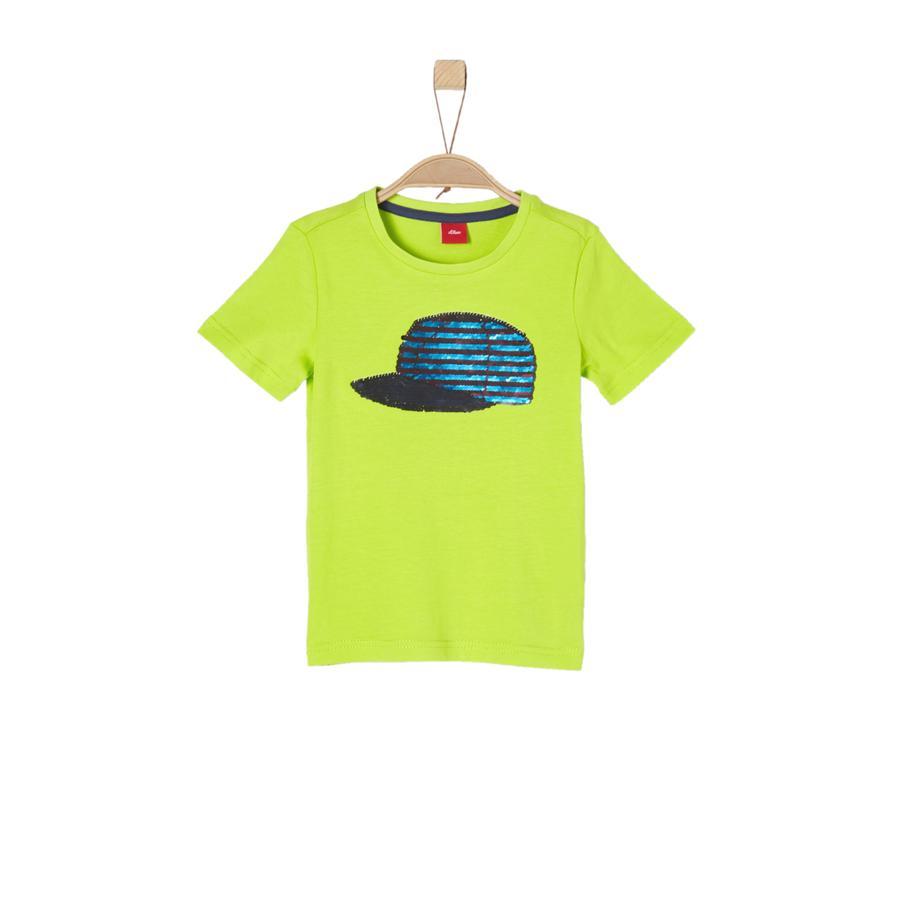 s.Oliver Boys T-Shirt jasnozielony