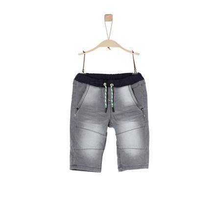 s.Oliver Boys Denim stretch gris Bermuda