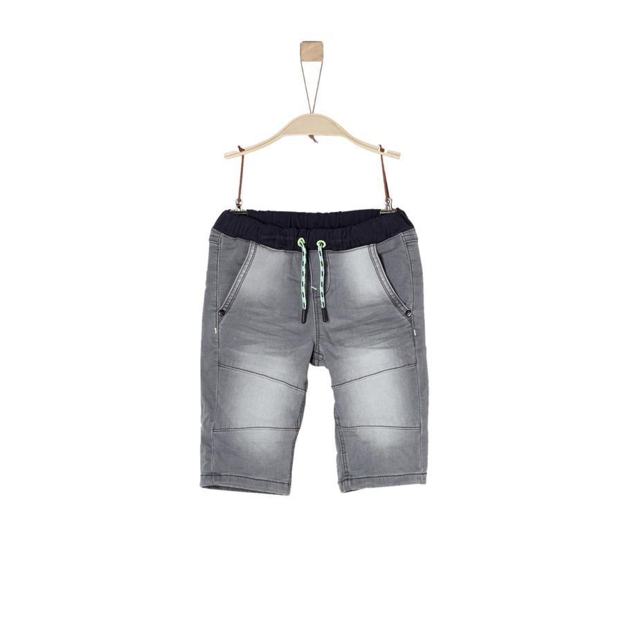 s.Oliver Boys Bermuda grigio denim stretch