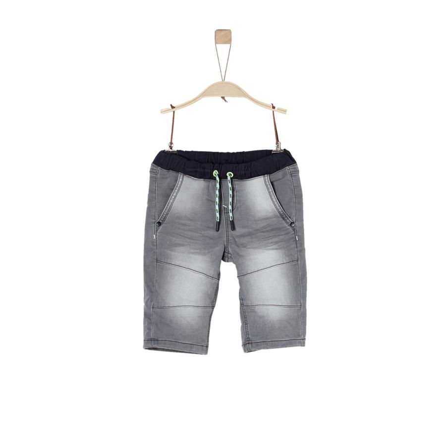 s.Oliver Boys Bermuda gris denim stretch