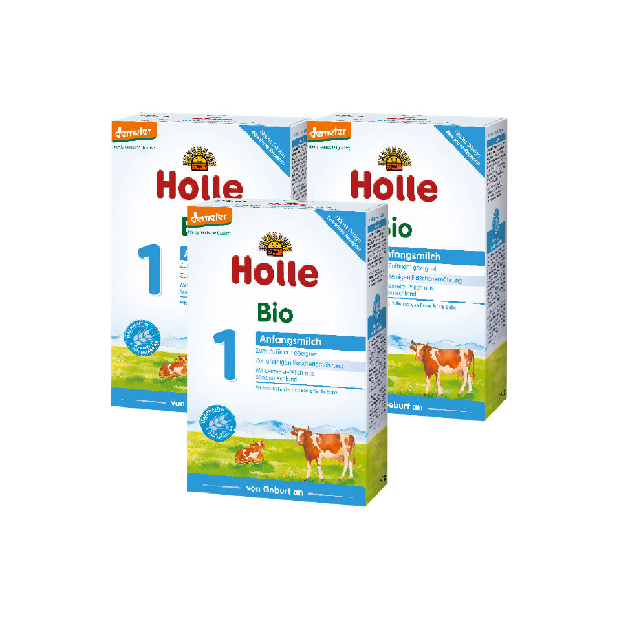 Holle Bio-Anfangsmilch 1 3 x 400 g