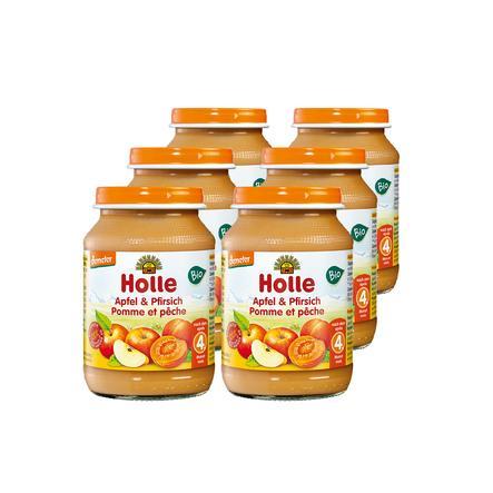 Holle Bio Apfel und Pfirsich 6 x 190 g