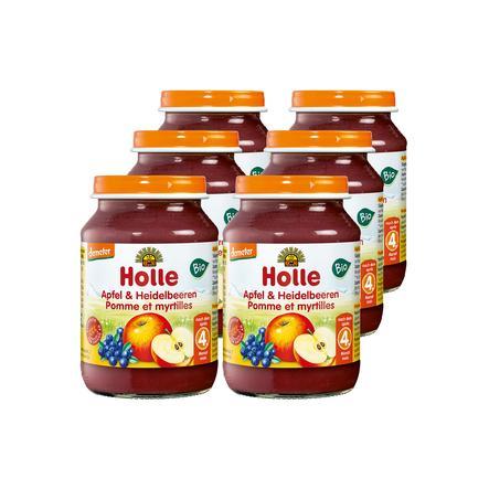Holle Bio Apfel und Heidelbeeren 6 x 190 g