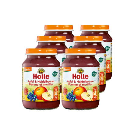 HOLLE Bio Apple and Blueberries 6x190g