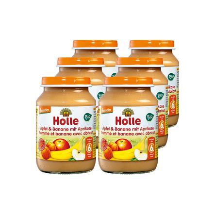 Holle Bio Apfel und Banane mit Aprikose 6 x 190 g