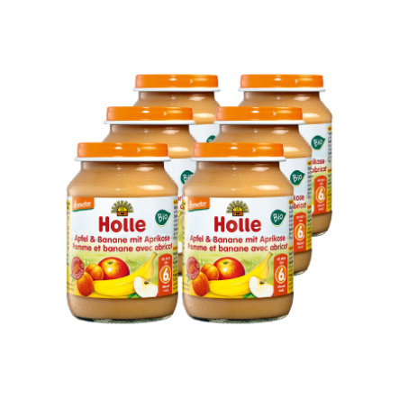 HOLLE Bio Apple and Banana with Apricot 6x190g