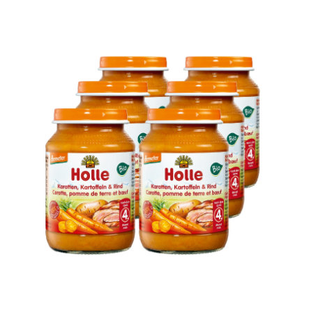 HOLLE Bio Carrots and Potatoes with Beef 6 x 190g