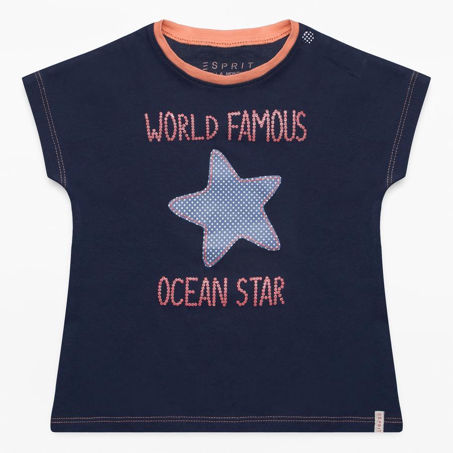 ESPRIT Girl s bleu T-Shirt crépuscule bleu