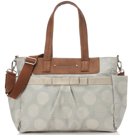 Babymel Wickeltasche Cara Retro Dot Grey
