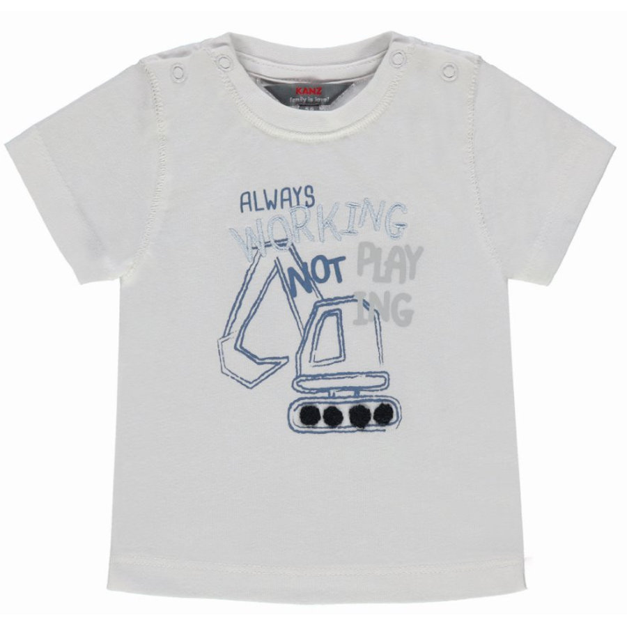 KANZ Boys T-Shirt Excavadora, blanco