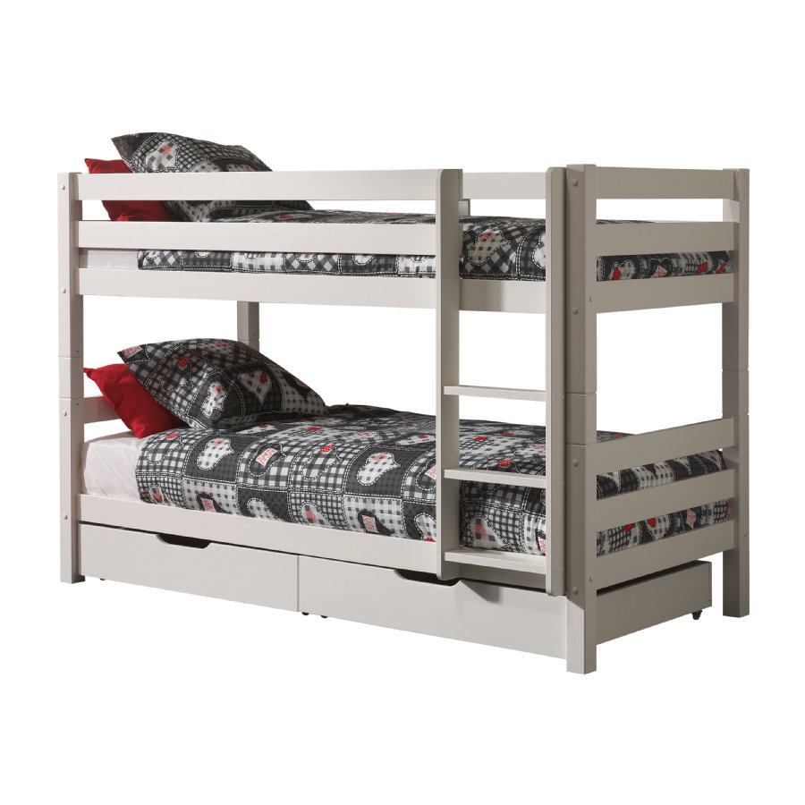 VIPACK Litera con cajones de cama Pino blanco