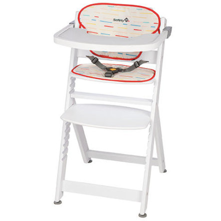 Safety 1st Barnstol Timba med sittdyna Red Lines/White
