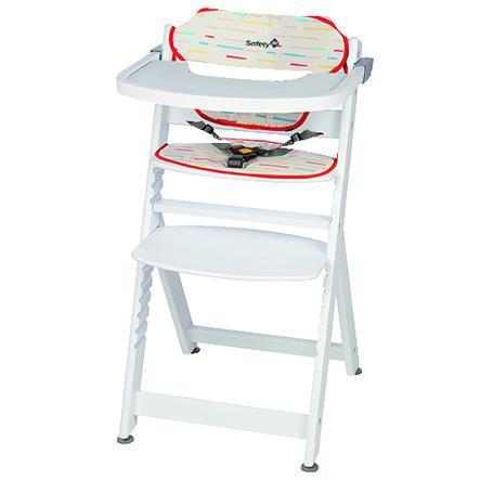Safety 1st Jídelní židližka Timba s polstrováním Red Lines/White