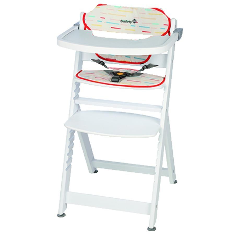 safety 1st hochstuhl timba mit sitzkissen red lines white. Black Bedroom Furniture Sets. Home Design Ideas
