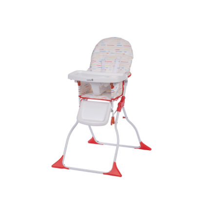 Safety 1st Chaise Haute Bebe Keeny Red Lines Rouge