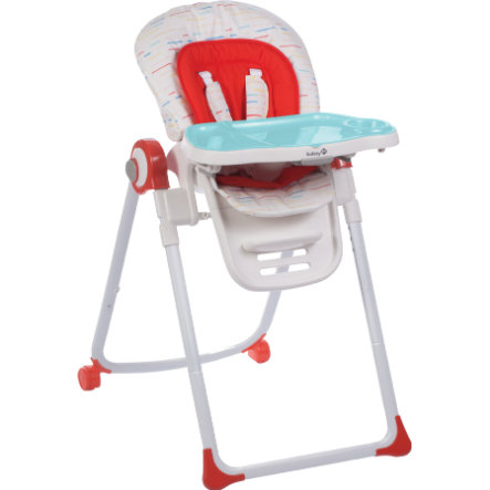 Safety 1st Chaise Haute Bebe Koomy Red Lines Rouge